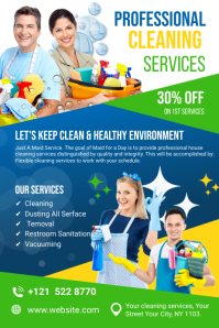 Cleaning Services Ads Баннер 4' × 6' template