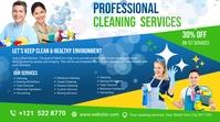 Cleaning Services Ads Affichage numérique (16:9) template