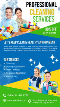 Cleaning Services Ads Digitale Vertoning (9:16) template