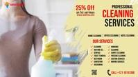 Cleaning Services Ads Ikhava Yevidiyo ye-Facebook (16:9) template