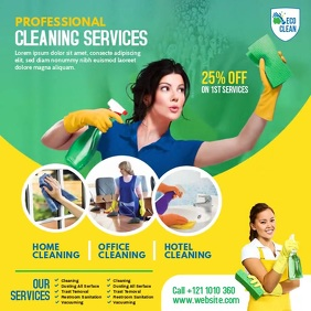 Cleaning Services Ads Instagram Post template