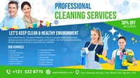 Cleaning Services Ads Twitch Banner template