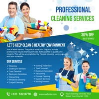 Cleaning Services Ads Carré (1:1) template