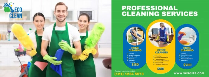 Cleaning Services Foto Sampul Facebook template