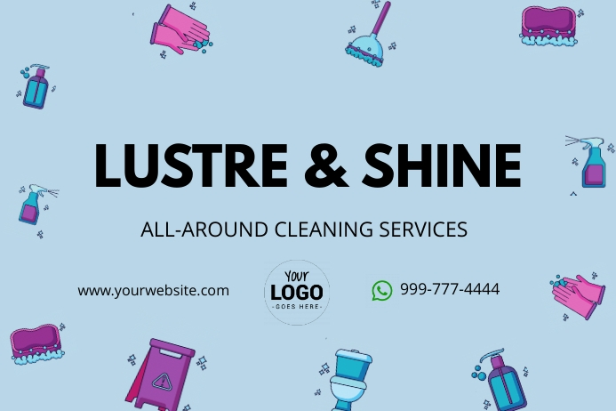 cleaning services 海报 template