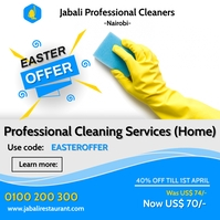 Cleaning services Post Instagram template