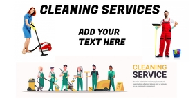 Cleaning services รูปภาพที่แบ่งปันบน Facebook template