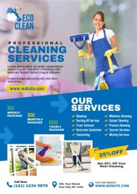 Cleaning Services A4 template