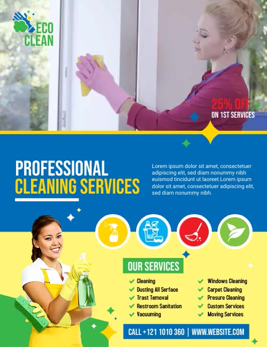 Cleaning Services Flyer (US Letter) template