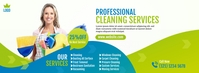 Cleaning Services Facebook Cover Facebook-omslagfoto template