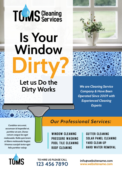Cleaning Services Flyer A4 template