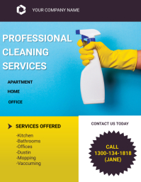 Cleaning Services Flyer Рекламная листовка (US Letter) template