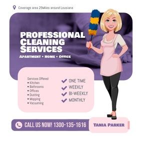 Cleaning Services Flyer Instagram template