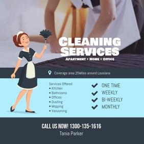 Cleaning Services Flyer Instagram Facebook Social Media