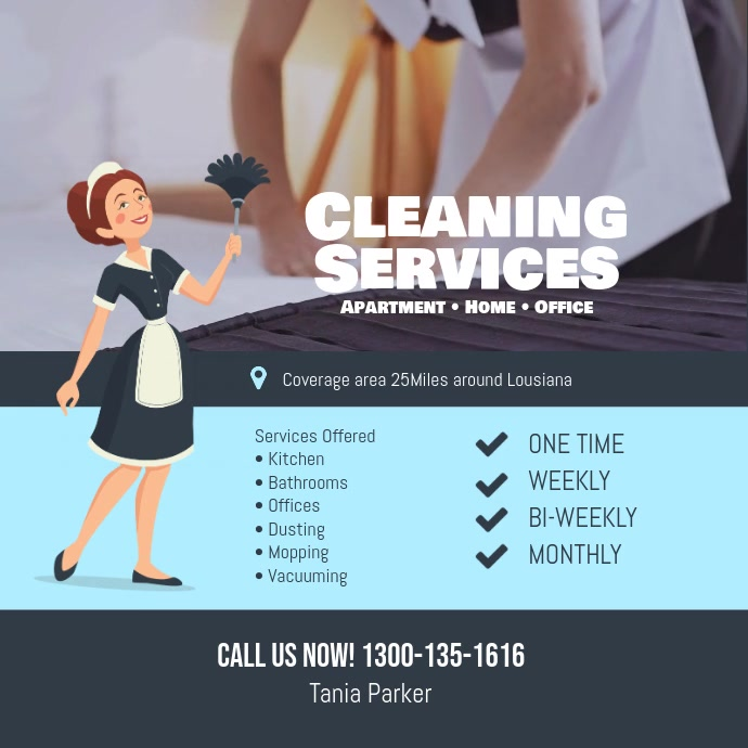 cleaning services flyer instagram facebook social media template