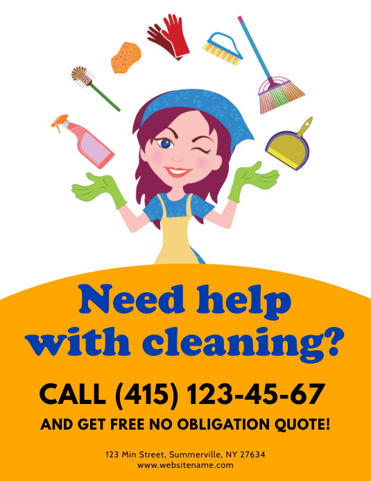 Cleaning Services Flyer Pamflet (Letter AS) template