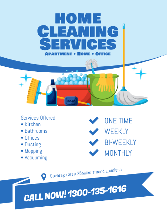 Cleaning Services Flyer Template Pamflet (Letter AS)