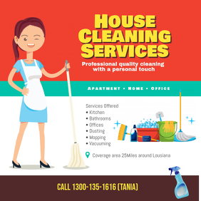 Cleaning Services Instagram Post Facebook Social Media