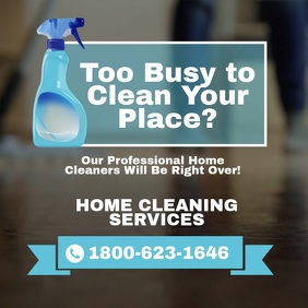 Cleaning Services Social Media Template Wpis na Instagrama