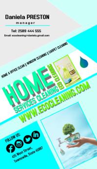 cleaning5 Besigheidskaart template