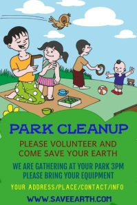 cleanup park template Плакат
