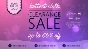 Clearance sale ad