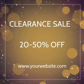 Clearance Sale Ad