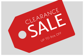 Clearance Sale Flyer Template Black friday