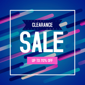Clearance Sale discount Instagram Post