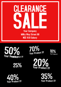 Clearance Sale Flyer Big sell-out closing down closeout
