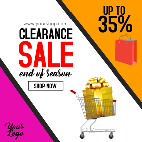 Clearance Sale Flyer Big sell-out season sale shopping ad