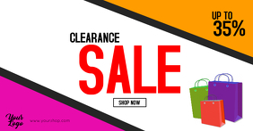 Clearance Sale Flyer Big sell-out season sale shopping ad Facebook-Anzeige template