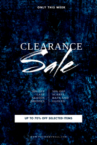 Clearance Sale Flyer Design Template