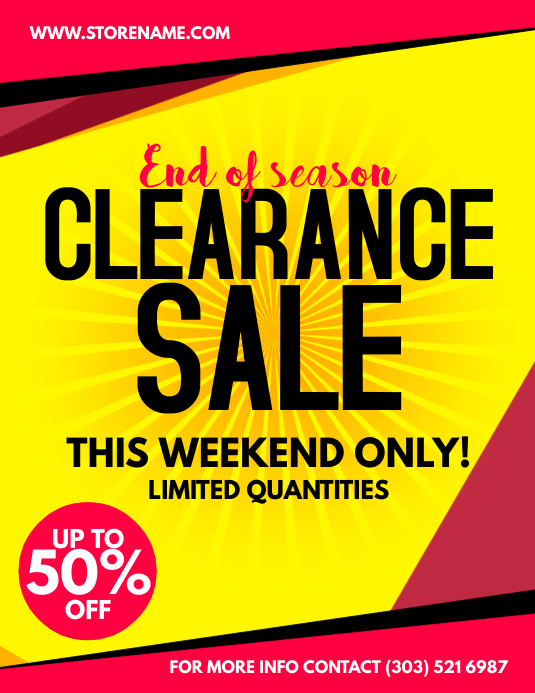 Clearance Sale Flyer