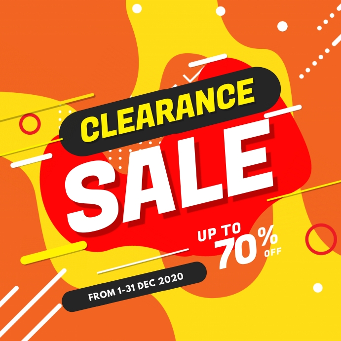 Clearance Sale Instagram Post template