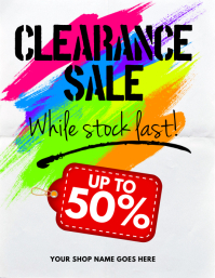 Clearance Sale Flyer template