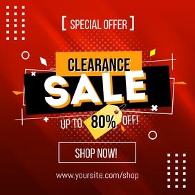 Clearance Sale Social media Post Template