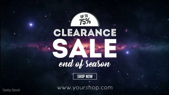 Clearance Sale Video Season Sell Out Shop ad Digitalanzeige (16:9) template