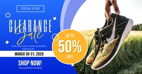 Clearance Shoes Sale Facebook Shared Image template