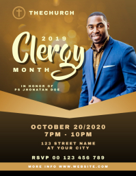 Clergy Month Church Flyer