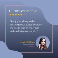 Client testimonial Instagram Plasing template