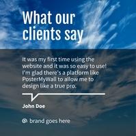 client testimonials Сообщение Instagram template