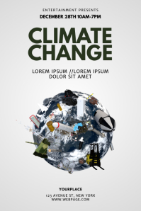 Climate Change Flyer Design Template