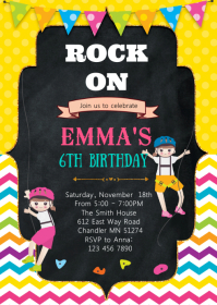 Climbing birthday invitation