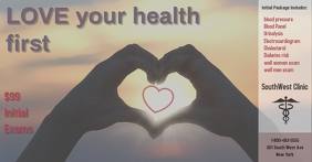 clinic/hospital/doctors office/health/exams Facebook 共享图片 template