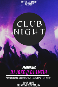 Cllub party flyer template