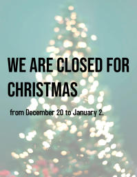 Closed for Christmas Flyer (US Letter) template