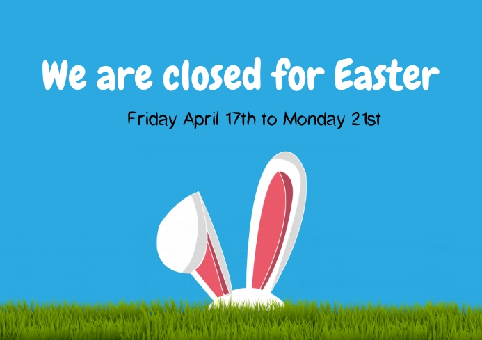 Closed for Easter trading hours A4 template