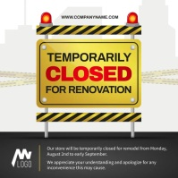 Closed for Renovation Square Video template