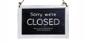 Closed Sign Chalk Board Restaurant Header Imagen Compartida en Facebook template